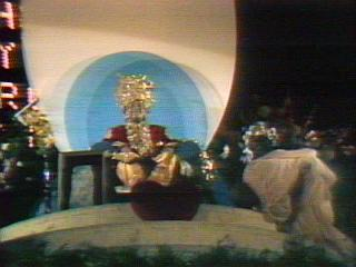 Maharaji on a Pedestal